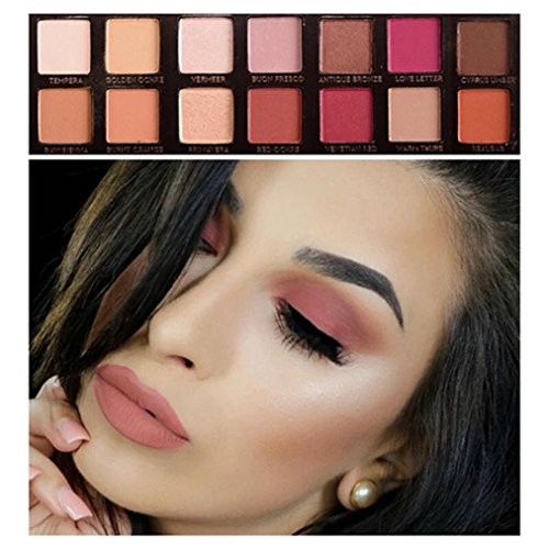 Sixcup Best Pro Eyeshadow Palette Makeup - Matte + Shimmer 14Colors - Highly Pigmented - Professional Nudes Warm Natural Bronze Neutral Smoky Cosmetic Eye Shadows