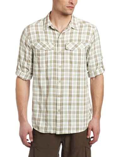Columbia Silver Ridge Plaid Long Sleeve Camicia, Uomo Beige (Sea Salt Large Plaid (125))