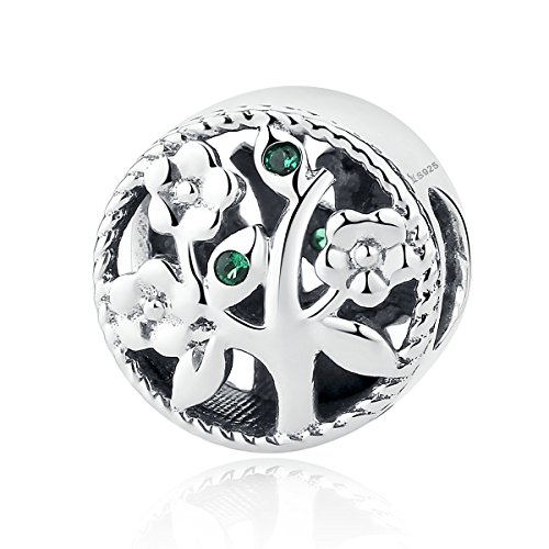 Lebensbaum-Charm-Anhänger, 925erSterlingsilber, für Pandora und europäische Armbänder