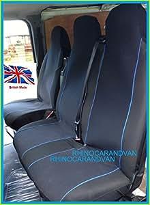 Nissan Cabstar 2004Deluxe van Housses de siège Noir et jaune passepoil