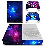Stillshine Vinyl Skin Decal Full Body Sticker For Microsoft Xbox One S Console & 2 Controllers And Kinect 2.0 (Double Star)