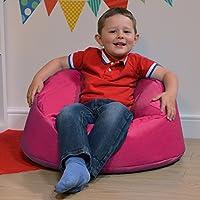 Hug Rug Silla para niños–Puf para interior y exterior para niños por Bean Bag Bazaar® , tela, Rose, S