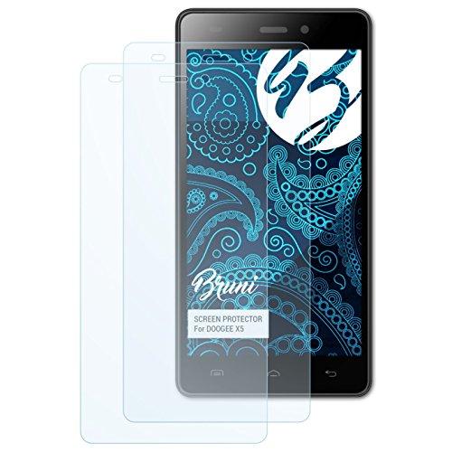 Bruni Schutzfolie für DOOGEE X5 Folie, glasklare Bildschirmschutzfolie (2X)