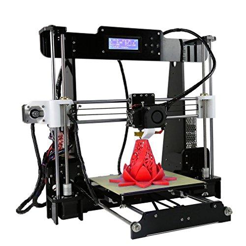 Kinshops anet a8 stampante 3d ad alta velocità precision con lcd funziona con pla abs filamenti per fai da te