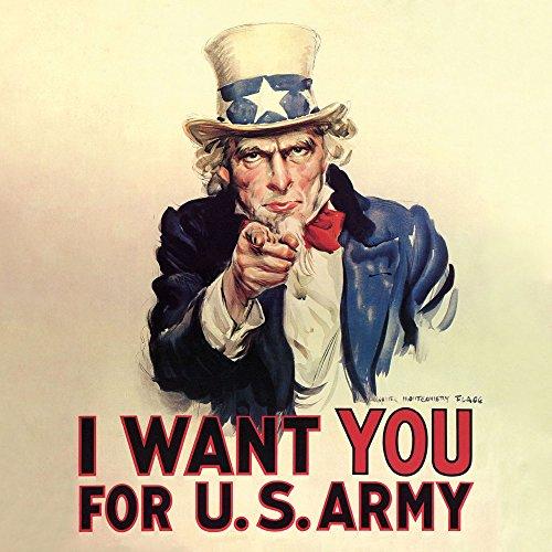 American Legends – Uncle Sam – Type de plexiglas acrylique Bloc de verre image – Taille 33 x 33 cm