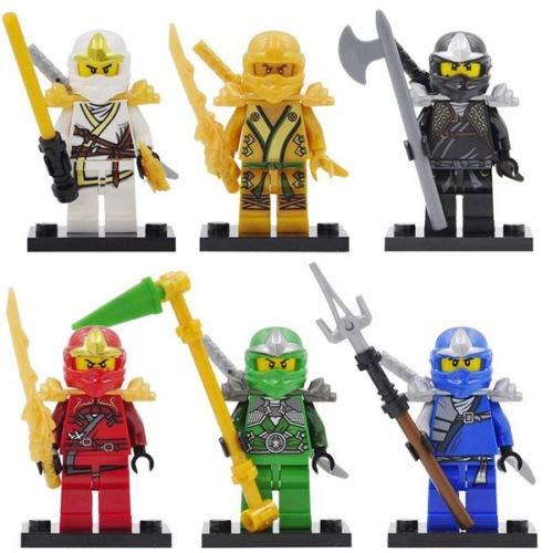 Beängstigende Blöcke verfolgt Halloween 6Pcs Ninjago Jay Kai Cole Lloyd WP Mini-Figuren Minifigures Gebäude Blöcke UK Limited Edition