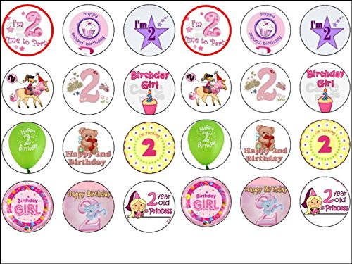 24-baby-girl-2nd-second-birthday-edible-wafer-paper-cup-cake-toppers