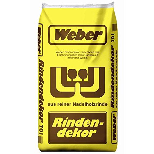 WEBER Rindendekor-Mulch 70 Liter (Körnung: 0-40 mm) Rindenmulch aus reiner Nadelholzrinde