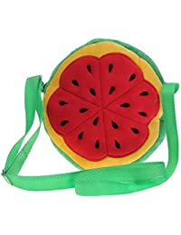 Y-BOA Sac Bandoulière Enfant/Fille Fruit Fraise Mignon Rond Zip