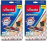 Vileda UltraMax/1-2 Spray Replacement Microfibre Pads, Pack of 2