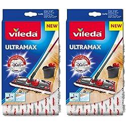 Vileda Ultramax/1-2 Spray Recharge en microfibre - Lot de 2