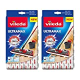 Vileda UltraMax/1-2 Spray Replacement Microfibre Pads, Pack of 2