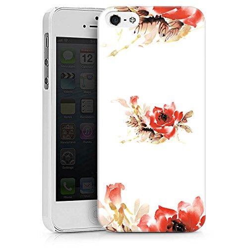 Apple iPhone X Silikon Hülle Case Schutzhülle Blume Muster Bunt Hard Case weiß