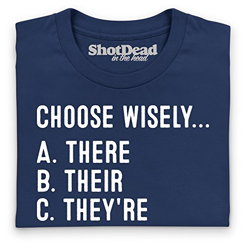 Choose Wisely T-Shirt, Damen Dunkelblau