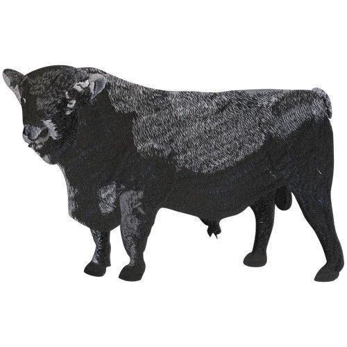(07380) retro in gomma - Toro manzo mucca sbirro - misura circa 29 cm x 18 cm