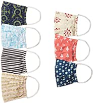 Ayukta Women's Cotton Reusable Face Mask (Pack of 7) (AYUMSK07_Multicolor_Free S