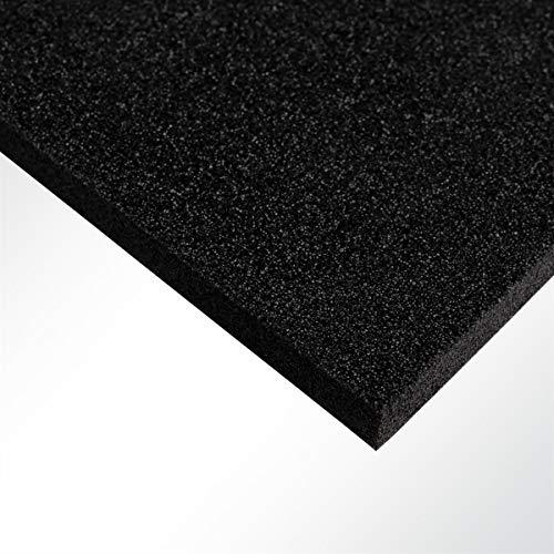 Plastazote® LD29 Polyethylen PE Schaumstoff Hartschaumstoff schwarz 100x50x5cm -