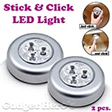 Gadget Hero's Stick & Click LED Light. A Set Of 2 Units Battery