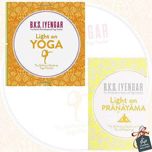 Light on Yoga and Light on Pranayama 2 Books Bundle Collection By B.K.S. Iyengar With Gift Journal - The Definitive Guide to Yoga Practice, The Definitive Guide to the Art of Breathing