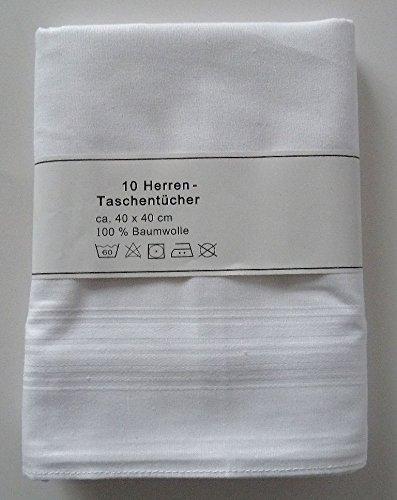 Herren-Taschentuch 10er Pack Weiß