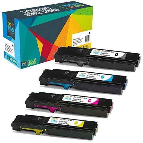 Do it Wiser 4 Toner Compatibili per Xerox WorkCentre 6605 | Xerox Phaser 6600 | WorkCentre 6605dn | WorkCentre 6605n | Phaser 6600n | Phaser 6600dn (4 Pack)