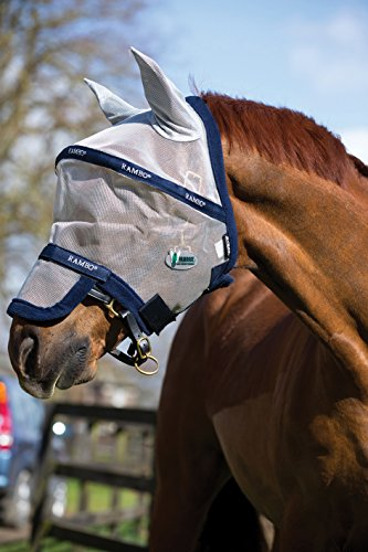 Horseware Rambo Plus Fly Mask Vamoose Gesichtsmaske Größe COB