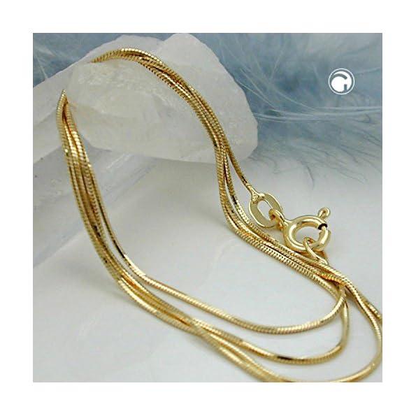 Latotsa 14 Karat 585 Gelbgold Gold Schlangenkette Schlange Schlangen Kette Halskette Goldkette Schmuck