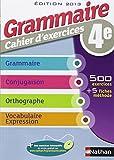 Grammaire cahier d'exercices 4e