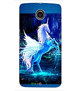 ColourCraft Beautiful Horse Design Back Case Cover for MOTOROLA GOOGLE NEXUS 6