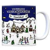 trendaffe - Haseldorf Weihnachten Kaffeebecher mit winterlichen Weihnachtsgrüßen - Tasse, Weihnachtsmarkt, Weihnachten, Rentier, Geschenkidee, Geschenk