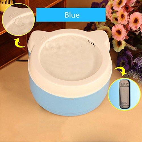 Automatisch Elektrisch Haustier Wasser Brunnen Mit Filter, Hund Katze Vogel Trinken Schüssel Auto Zirkulierend Wasser Spender Super Leise , Blue (Vögel Feeder Pole)
