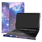 Alapmk Diseñado Especialmente La Funda Protectora de Cuero de PU para 15.6' HP ZBook Studio G3 G4 Mobile Workstation Series Ordenador portátil,Galaxy
