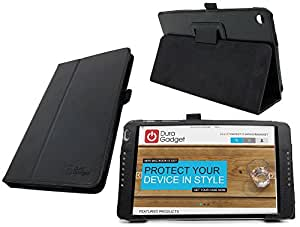 DURAGADGET EE Eagle Case - Black PU Leather Case With Built-In Flip Stand & Magnetic Sleep/Wake Function - Custom Designed For The EE Eagle