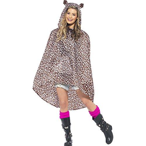 Smiffys, Unisex Leoparden Party Poncho, Poncho mit Zugbeutel, One Size, (Ideen Kostüme Halloween Schlechte Für)