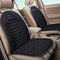 ZhongYeYuanDianZiKeJi Protector de asiento de coche Antideslizante con organizador Resistente bolsillos tamaño universal Cubre Asientos la mejor funda protectora para niño negro
