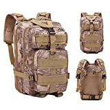 30l outdoor military tactical camping hiking trekking backpack rucksacks lightweight travel packable rucksack durable waterproof sports daypack for backpack large men women(multicolor-A,One size)