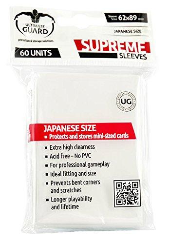 Preisvergleich Produktbild Ultimate Guard UGD010059 - Supreme Hüllen, Japanische Größe, 60 Stück, weiß