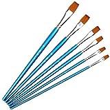 F-dujin Art pinceaux 6 PCS Nylon Cheveux Aquarelle Stylo Art Pinceau Ensemble Peinture Fournitures Art Dessin Stylo