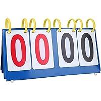 Marcador Deportivo Manual de Mesa Marcador de Competencia Deportiva 3/4 Dígitos Marcador de Cuatro Dígitos 37cm*15cm para Baloncesto Fútbol Tenis Badminton Socialme-EU