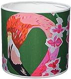 Chloe Croft London Limited Flamingos und Blumen-Lampenschirm, andere, Grün/smaragd/Pink/Weiß