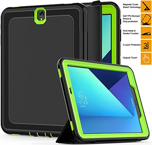 official photos 04791 b844b Samsung Galaxy Tab S3 9.7 Case, SEYMAC Three Layer Heavy Duty Tough ...