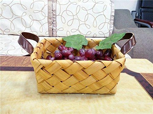 XBR Hand _ LOG Weidenkorb geflochten die Piazza Haushaltsprodukte Lagerung Warenkorb-Korb des Brot, Gemüse Tragbare tromba (Log-servietten)