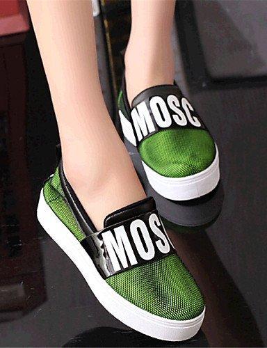 ShangYi gyht Scarpe Donna-Mocassini-Tempo libero / Casual-Comoda-Piatto-Tulle-Giallo / Verde / Grigio Green