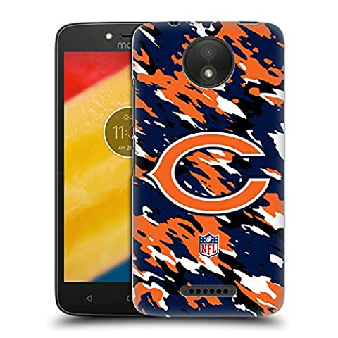 Official NFL Camou Chicago Bears Logo Hard Back Case for Motorola Moto C