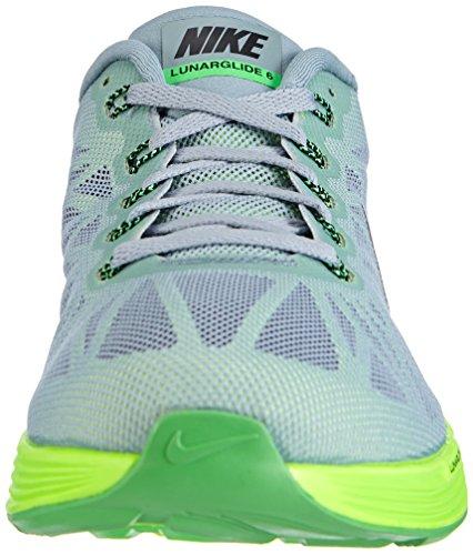 Nike Lunarglide 6, Herren Laufschuhe Grau (Dove Grey/Black-Poison Green-Flash Lime)