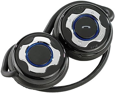 Callstel Premium Stereo-Bluetooth-Headset mit Nackenbügel,