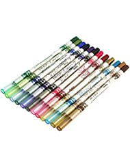 leading-star 12 Colors Glitter Lip liner Eye Shadow Eyeliner Pencil Pens Makeup Cosmetic Kitf