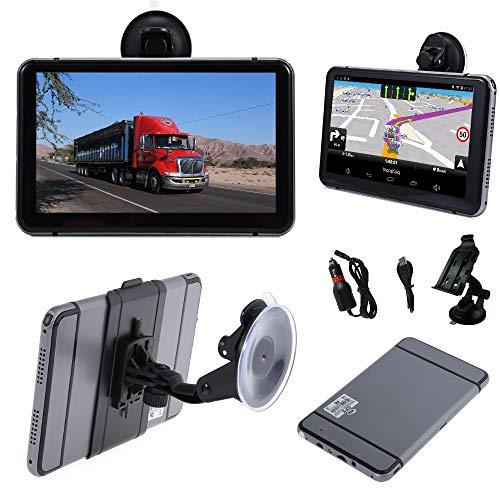 7 Zoll LKW(Truck), PKW, Bus, WOHNMOBIL und Camper Navigationsgerät mit Android. Radarwarner, Kostenlos Map Update, Gefahrgut, WiFi, Bluetooth,
