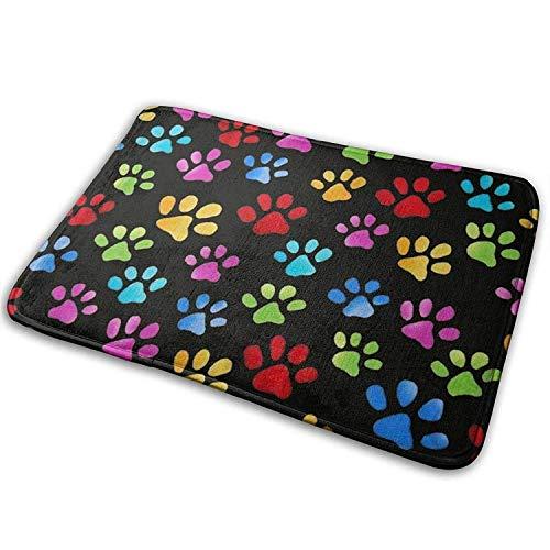 YnimioHOB Regenbogen Kitty Paw Prints, Ananas bequem, Anti-Rutsch, Bad Wohnzimmer Küche draußen, Fußmatten Teppich Pads Teppich -