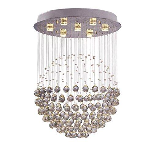 MULANG European Crystal Kronleuchter, Three-Tone Light Kronleuchter, Modern Creative Home Lighting, Bar Restaurant dekorativ (Home Kostüme Depot)
